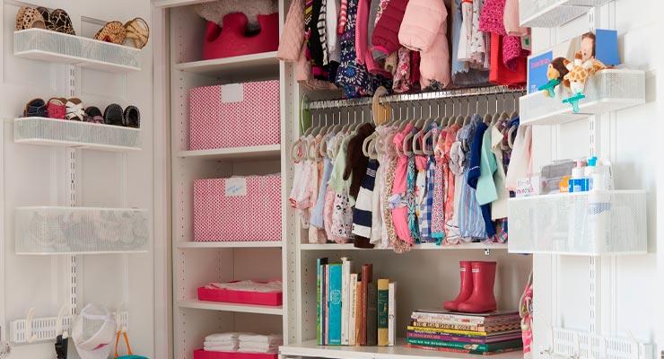Guarda Roupa de Criança Com Organizador