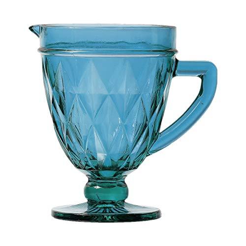 Jarra de Vidro Diamond Lyor Azul 1L