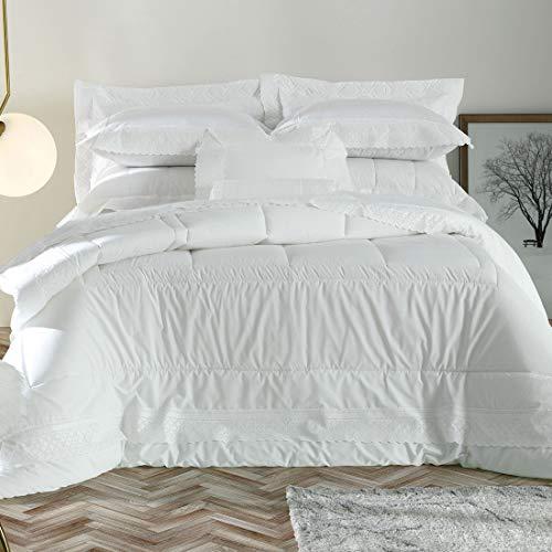 Jogo de roupa de cama Raffiné - Queen Altenburg Maison D' Art Branco Queen 300 FIOS