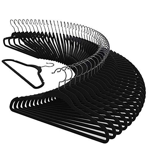 Kit 50 Cabide Veludo Slim Antideslizante Ultra Fino