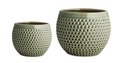 Kit Cachepot Fendi Em Cerâmica Com 2 Peças Mart Fendi