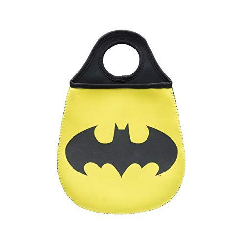 Lixeira de Carro Batman Logo Urban Amarelo Neoprene