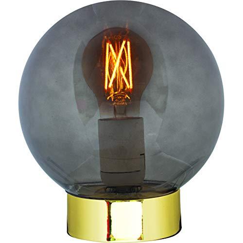 Luminária de Mesa em Vidro e Metal, Mart, Fumê/ Dourado, Mart Collection