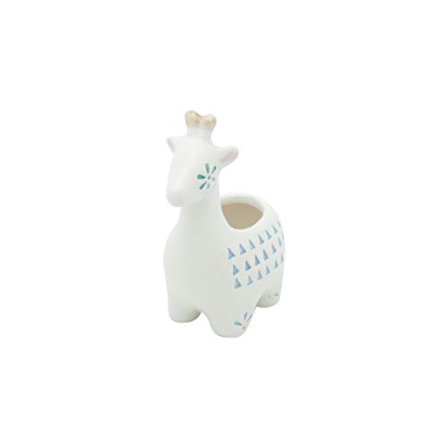 Mini Cachepot Cerâmica Animals Dots Fd Urban Branco Cerâmica