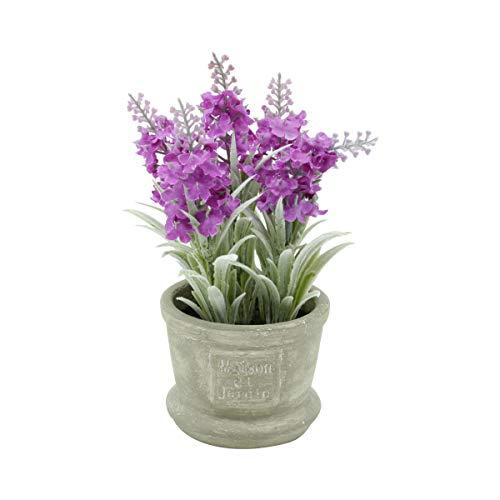 Mini Vaso Concreto Flock Lavender Urban Roxo Cimento