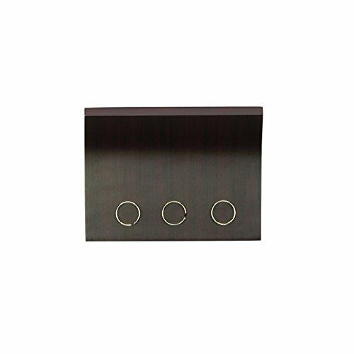 Porta Correspondencia/chaveiro Magnetico Magnetter Em Metal/madeira Umbra Branco