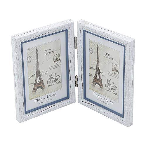 Porta Retrato Branco para 2 Fotos 10x15cm Paris Prestige