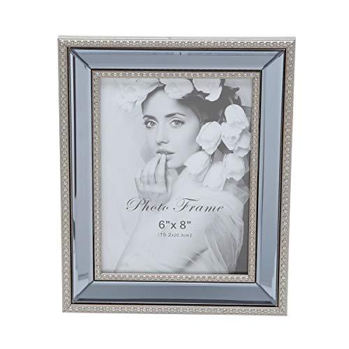 Porta Retrato com Espelho Rojemac Cinza Espelho