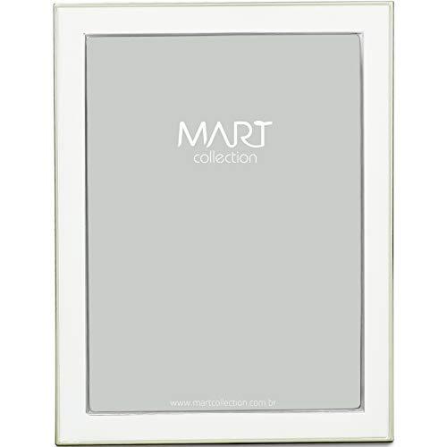 Porta-Retrato em Metal Mart Branco Mart Collection 15 X 20