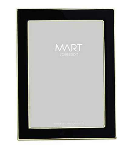 Porta-retrato Preto Em Metal - 10x15 Mart Dourado