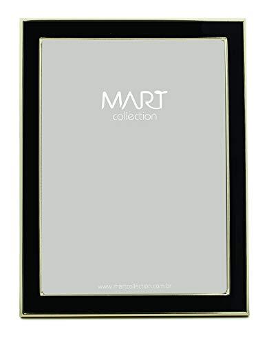 Porta-retrato Preto Em Metal - 15x20 Mart Dourado