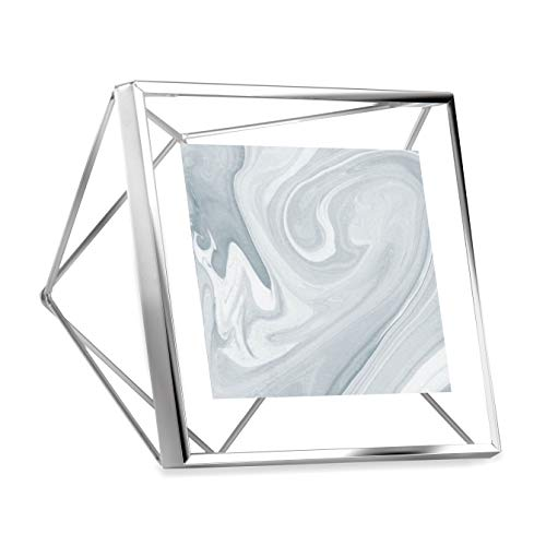Porta Retrato Prisma 10X10 cm Cromado Umbra