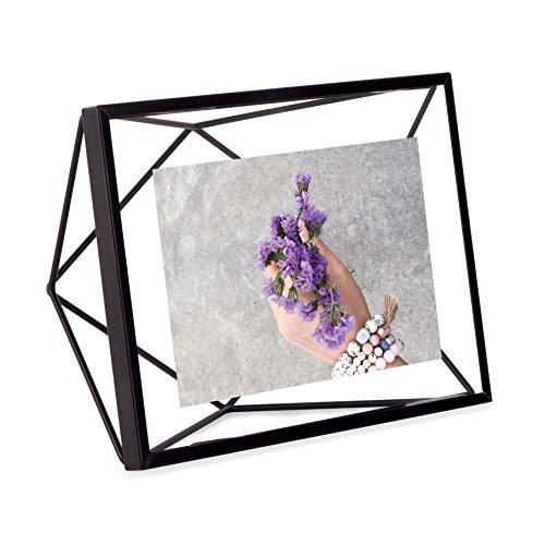 Porta Retrato Prisma Em Aço Umbra Preto