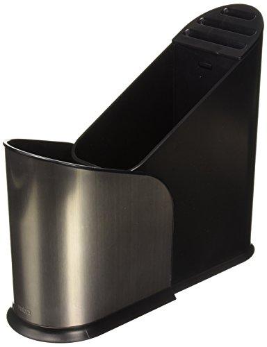 Porta Utensilio De Cozinha Furlo Cor Nickel/preto Em Abs Umbra Niquel