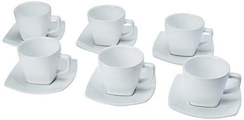 Porto Brasil Conjunto Com 6 Xícaras De Chá C/ 6 Pires Square Branco