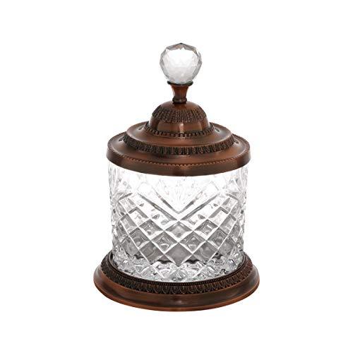 Pote Multiuso De Zamac Cristal Bronze 15x21, 5cm Lyor Cobre Único