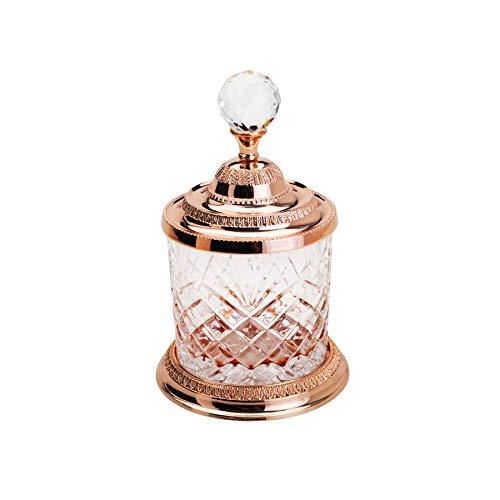 Pote Multiuso De Zamac Cristal Rosé 10,5x16,5cm Lyor Rosé