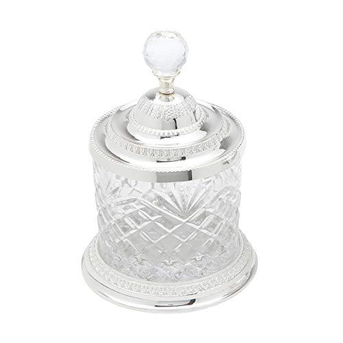 Pote Multiuso de Zamak Cristal Lyor Prata 15 x 15 x 21.5 cm