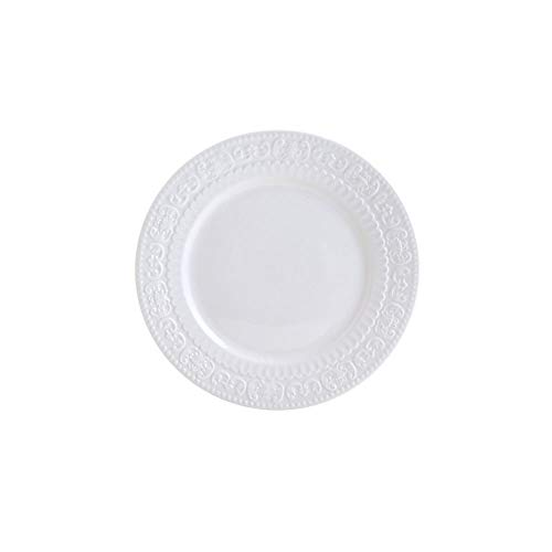Prato P/sobremesa De Porcelana New Bone Angel Branco 19cm Lyor Branco No Voltagev