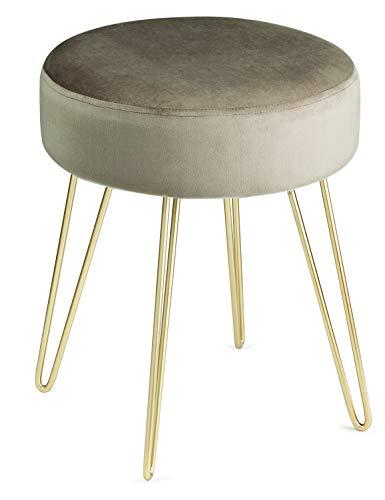 Pufe Fendi Com Estrutura Em Metal Dourado Com Assento Em Veludo Mart Fendi/dourado