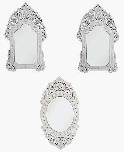 Quadro Espelho Veneziano Sala Quarto 38.85 e 3890 Kit 3 Peças