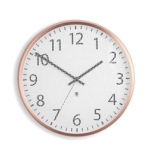 Relógio de Parede Perftime Tela de Aço 31,8 cm Cobre Umbra