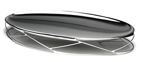 Riva Centro de Mesa Trama Oval Inox R01313 Inox