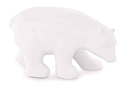 Urso Branco Em Cerâmica Mart Branco
