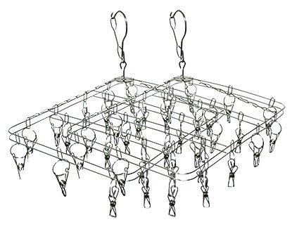 Varal aço inox - kit com 2 unidades