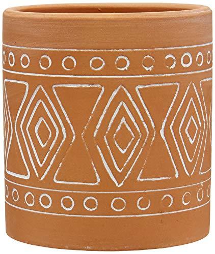Vaso Cerâmica Terracota Maya Barro Urban Marrom