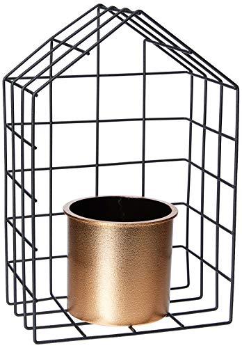 Vaso Metal/Plástico Geo Forms House Urban Cobre