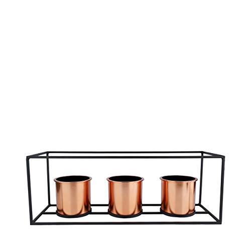 Vaso Metal/Plástico Geo Forms Urban Cobre