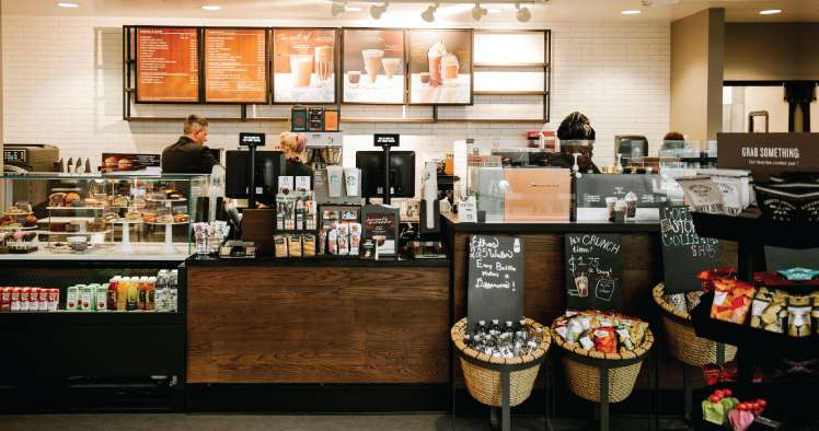 Loja Starbucks e seu marketing na decoração