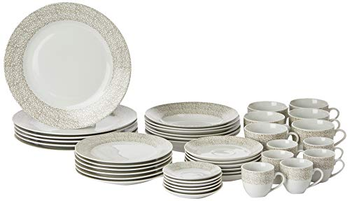 Aparelho De Jantar 42 Pcs De Porcelana Super White Saragoça Wolff Saragoça Única