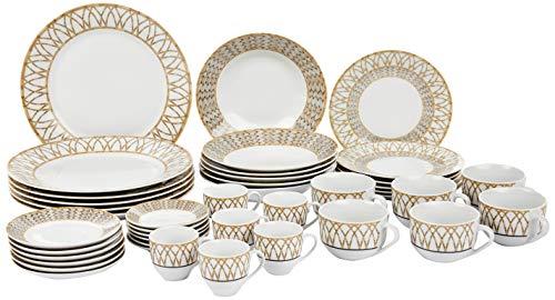 Aparelho de Jantar 42 Peças de Porcelana, Wolff, Bamboo, Única