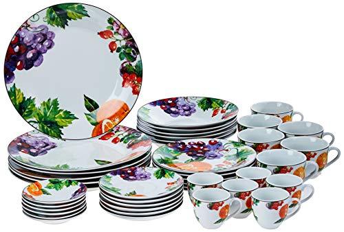 Aparelho de Jantar 42 Peças de Porcelana, Wolff, Fruit, Única