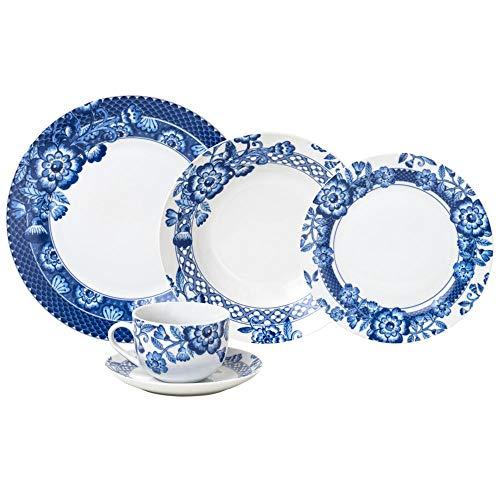 Conjunto Deunto 20 Peças de Jantar de Porcelana, Wolff, Santorini, Única