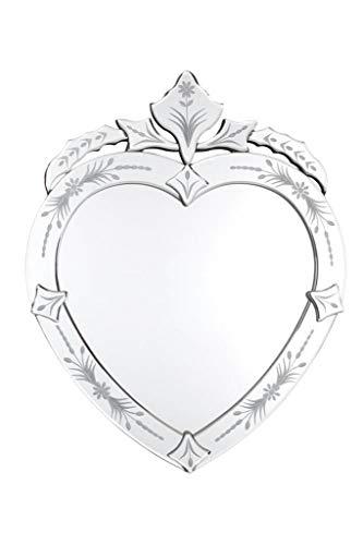 Espelho Veneziano Bisotado Coração