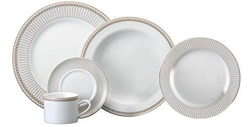 Serviço de Jantar e Chá 20 peças em Porcelana. Modelo Redondo Brasília. Decoração Vera. Fabricado pela Schmidt.