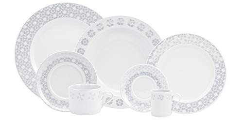 Serviço Jantar Chá Café 28 Peças Porcelana Schmidt Brasília. Decoração Creta Multicor Pacote De 028 No Voltagev