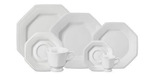 Serviço Jantar Chá Café 28 Peças Porcelana Schmidt Prisma Branca Pacote De 028 No Voltagev