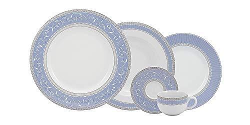 Serviço Jantar E Café 30 Peças Porcelana Schmidt Aba Larga. Decoração Diva. Assinada Por Cláudia Matarazzo Multicor Pacote De 030 No Voltagev
