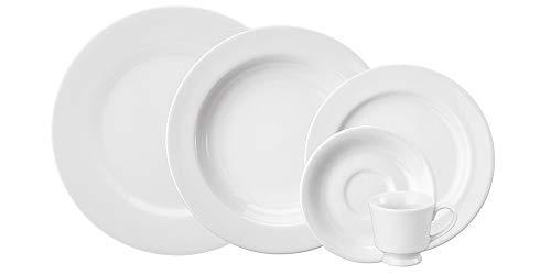 Serviço Jantar E Café 30 Peças Porcelana Schmidt Itamaraty Branca Pacote De 030 No Voltagev