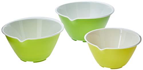 Conjunto 3 Tigelas com Bico Despejador e Apoio Chef'n Branco/Verde