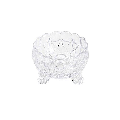 Conjunto 6 Pc Bowl De Cristal De Chumbo C/pé Angélica 9,5x7x7cm Wolff Angélica Transparente No Voltagev