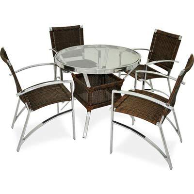 Conjunto de mesa com 4 cadeiras para área interna e externa