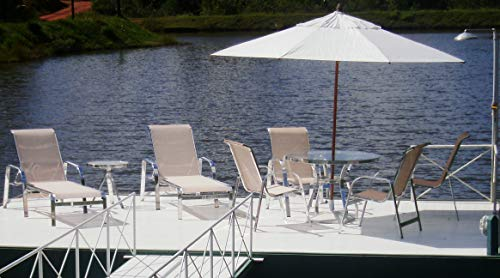 Kit completo para piscina, mesa, espreguiçadeiras e ombrelone guarda-sol