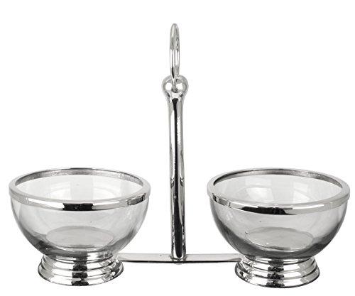 Petisqueira com 2 Bowls L'Hermitage Multicor Metal