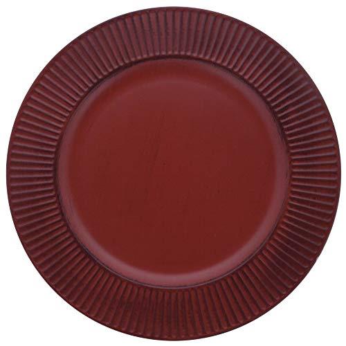 Sousplat Listras Mimo Style Vermelho