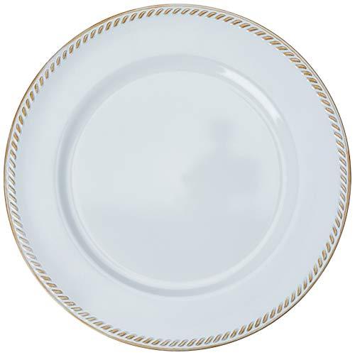 Sousplat Requinte Mimo Style Branco/Dourado